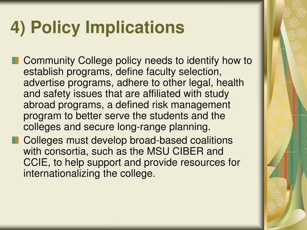 4) Policy Implications