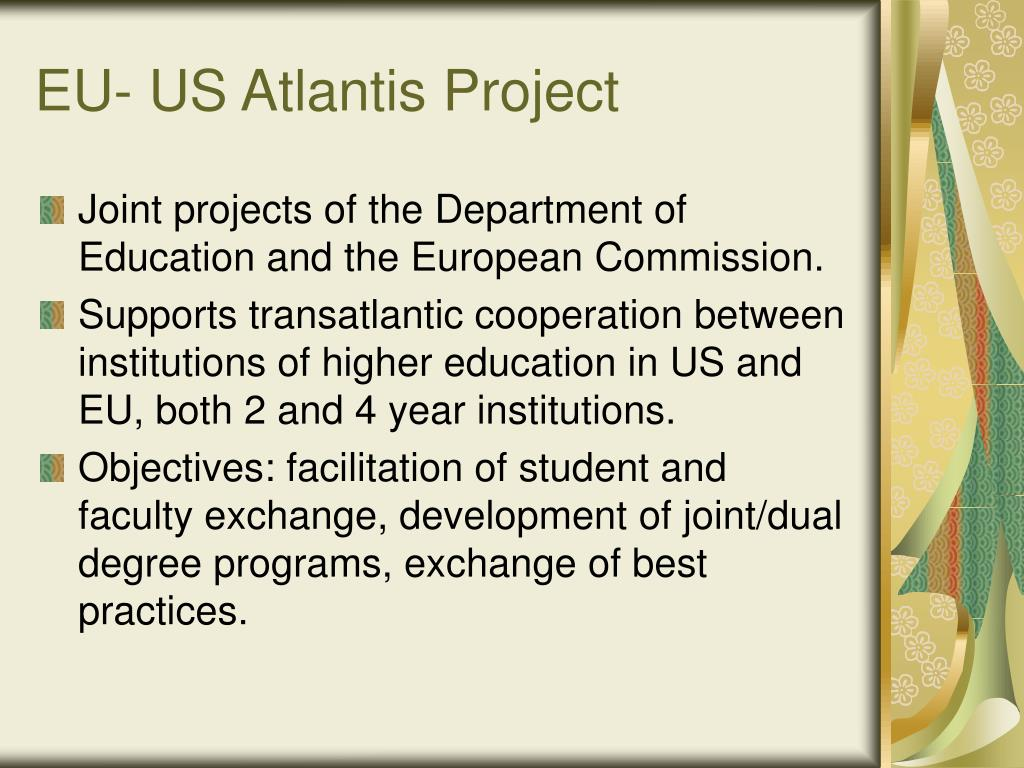 EU- US Atlantis Project