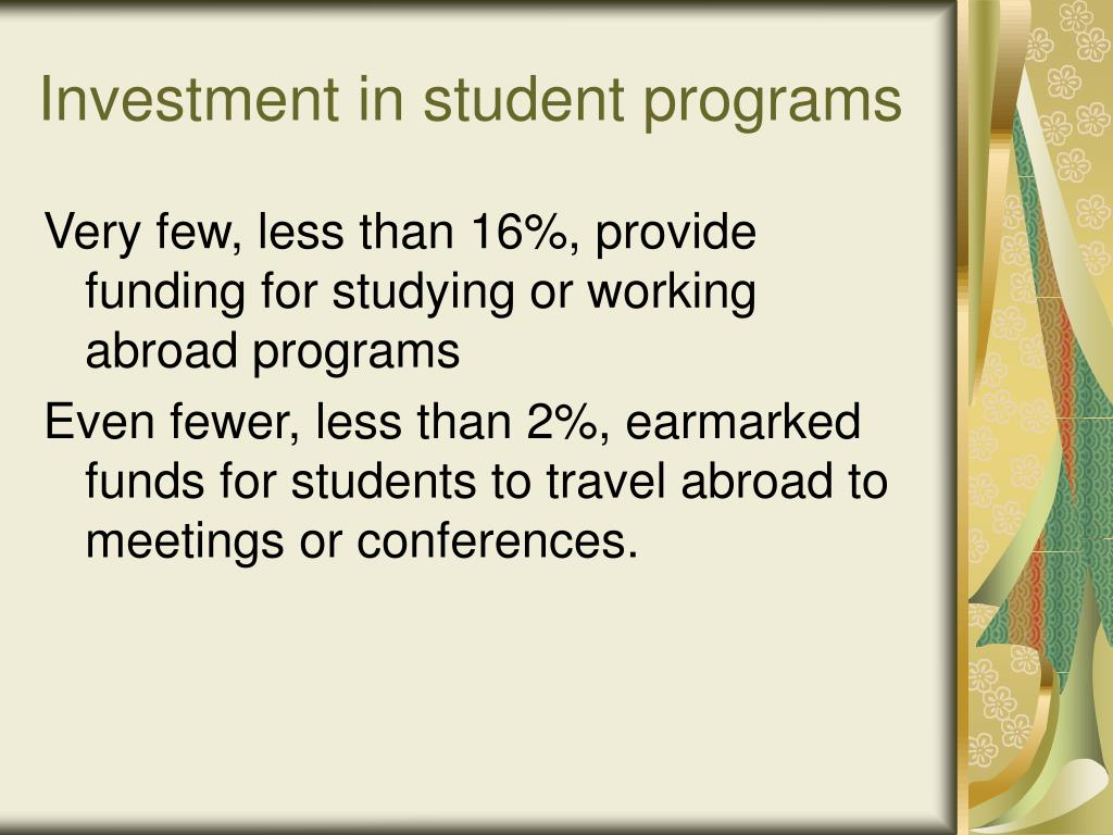 Investment in student programs