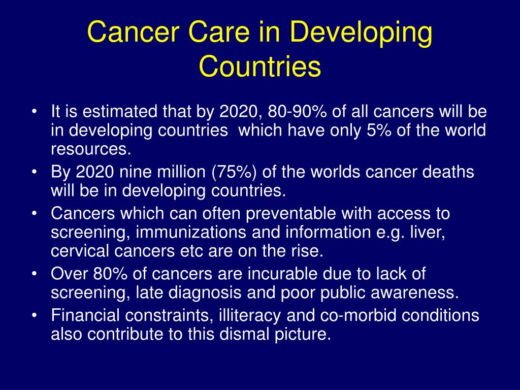 Cancer Care in Developing Countries