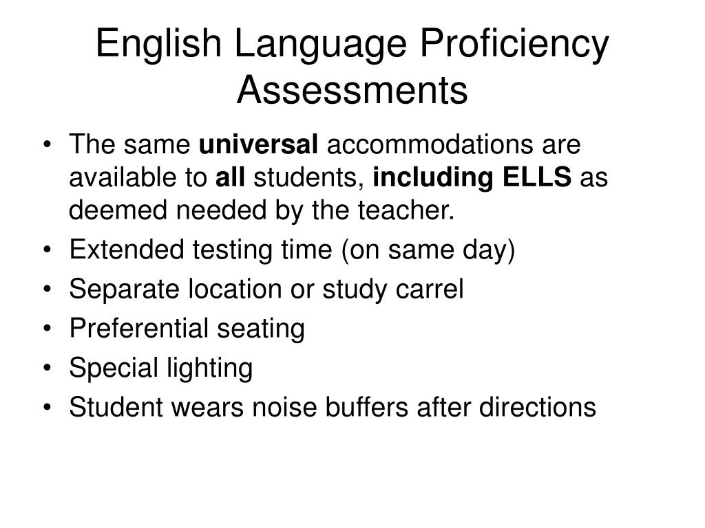 English Language Proficiency Assessments