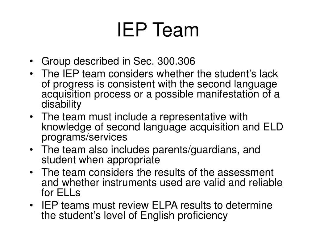 IEP Team