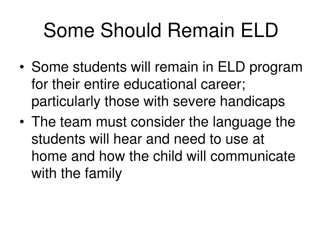 Some Should Remain ELD