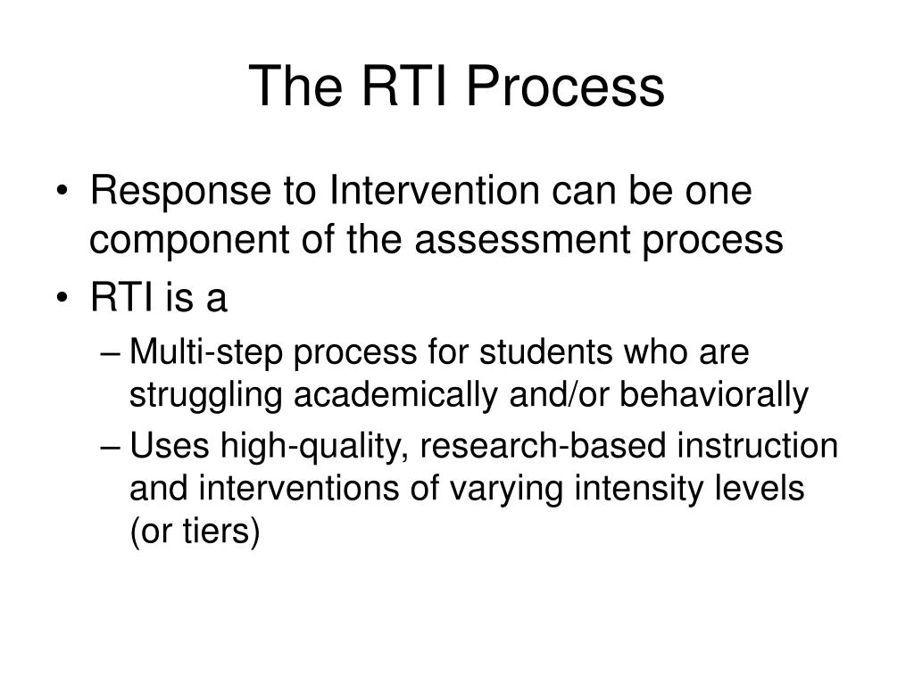 The RTI Process