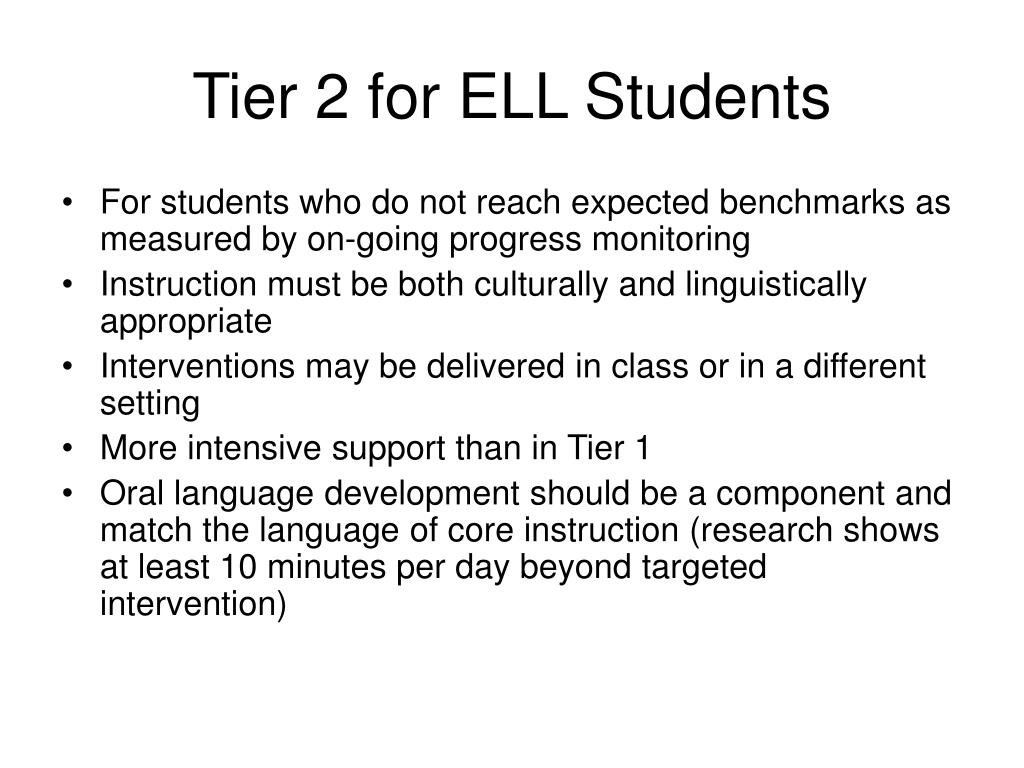 Tier 2 for ELL Students
