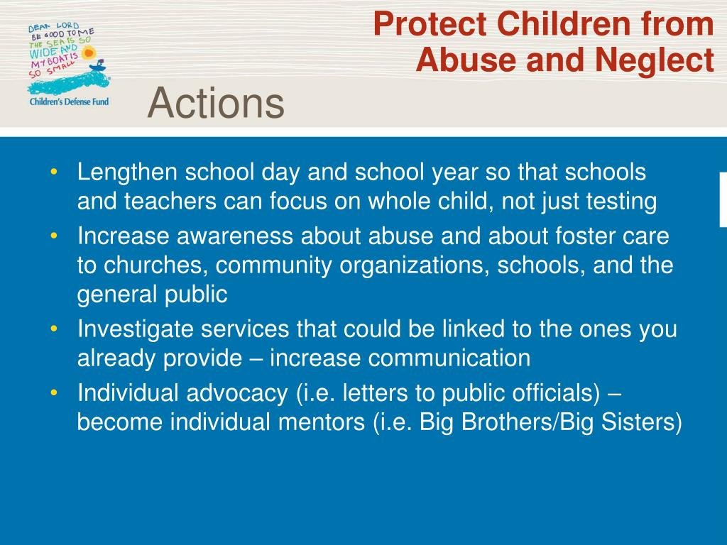Protect Children from Abuse and Neglect