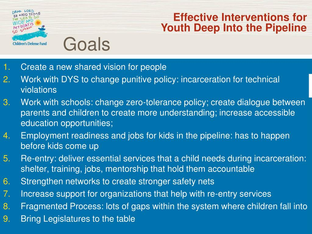 Effective Interventions for Youth Deep Into the Pipeline