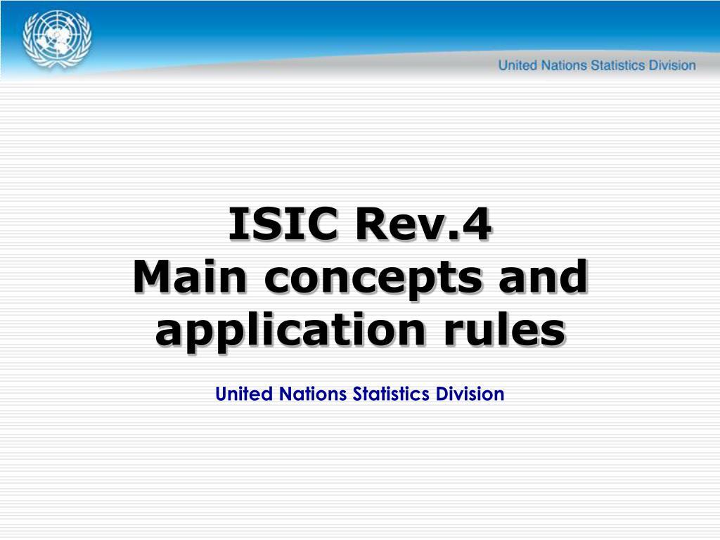 ISIC Rev.4