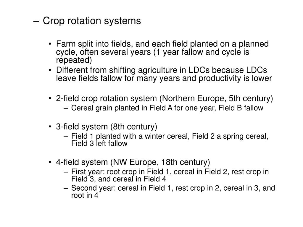 Crop rotation systems