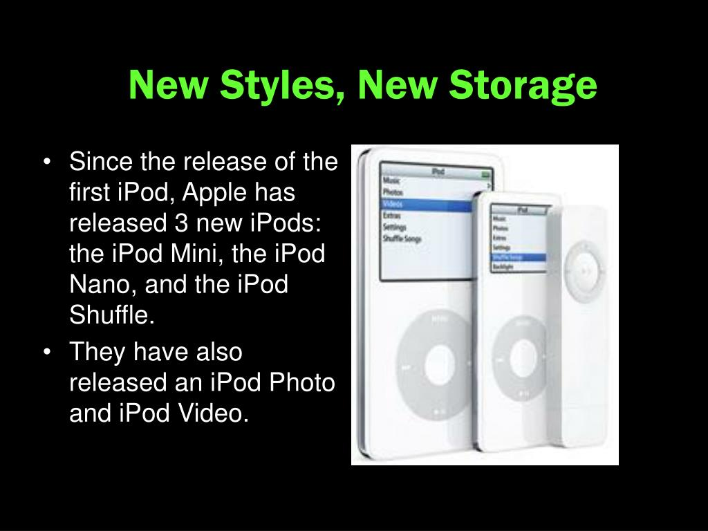 New Styles, New Storage
