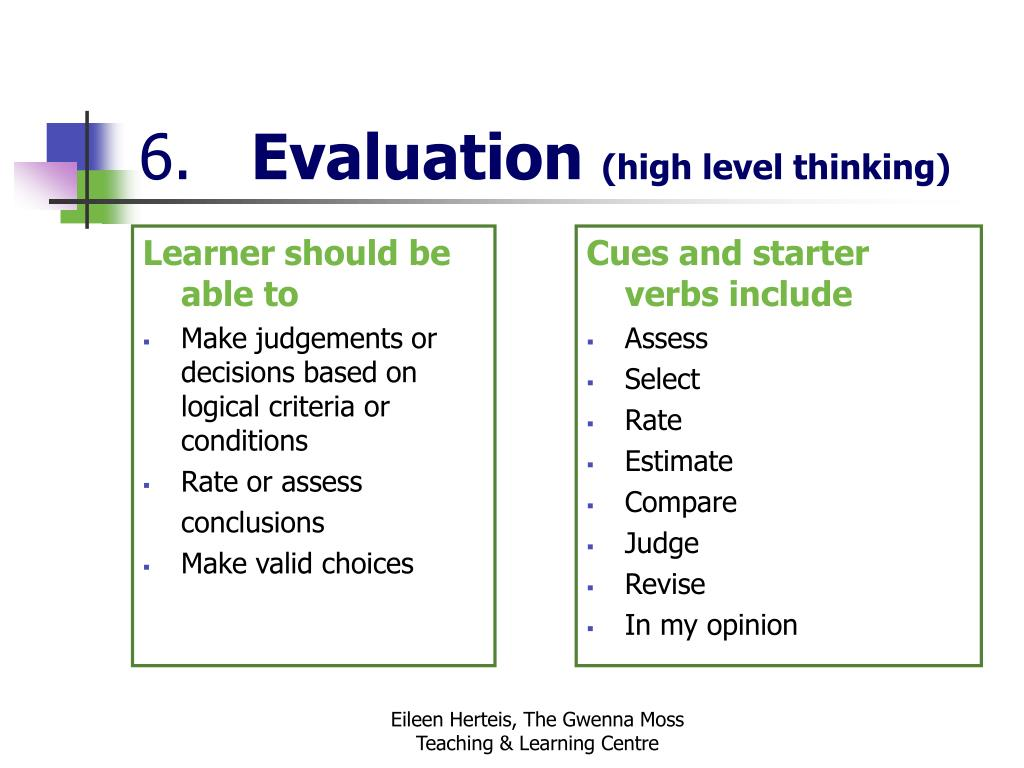 Learner should be able to