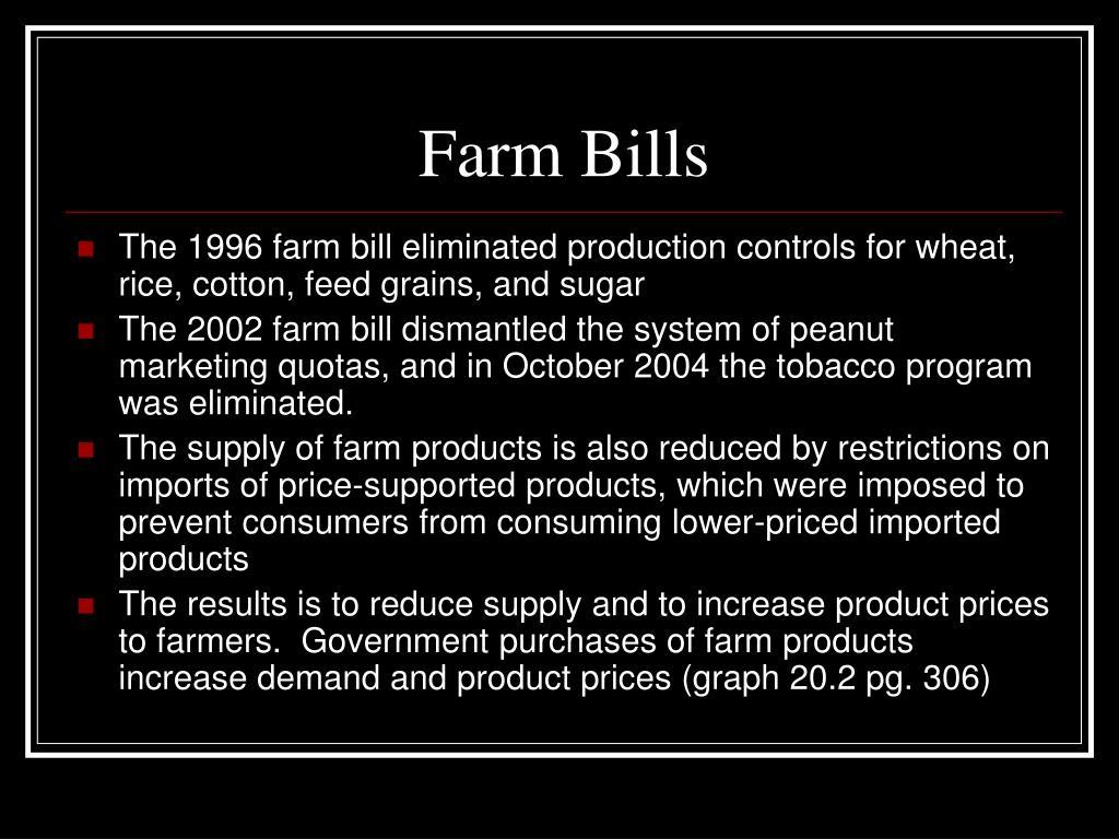 Farm Bills