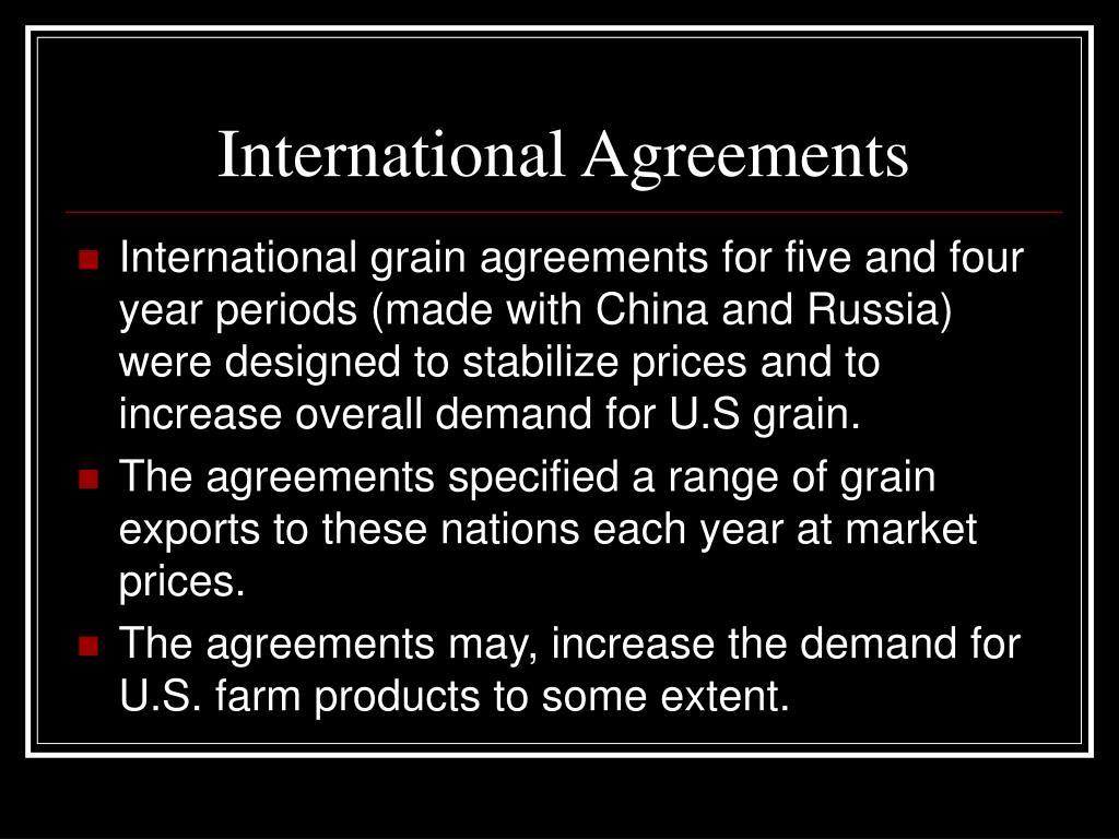 International Agreements