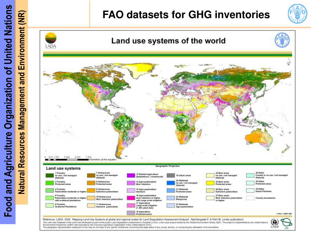 FAO datasets for GHG inventories