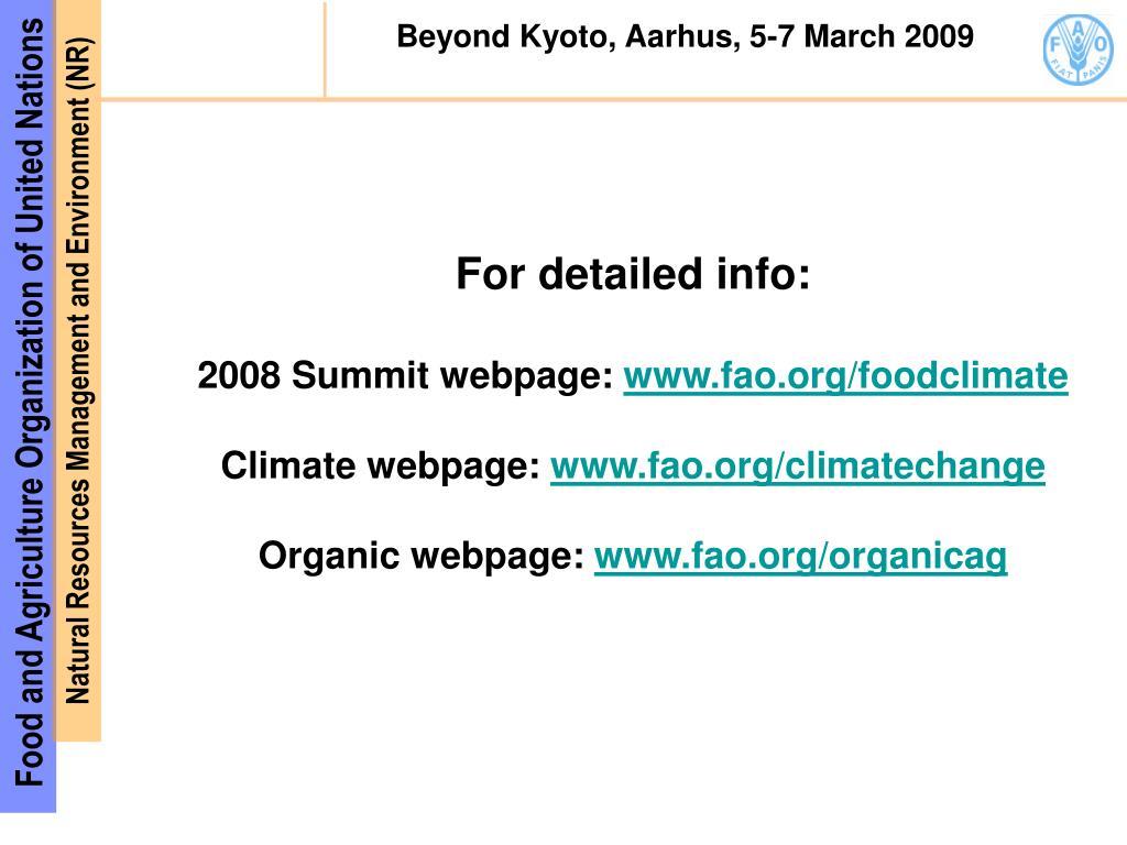 Beyond Kyoto, Aarhus, 5-7 March 2009