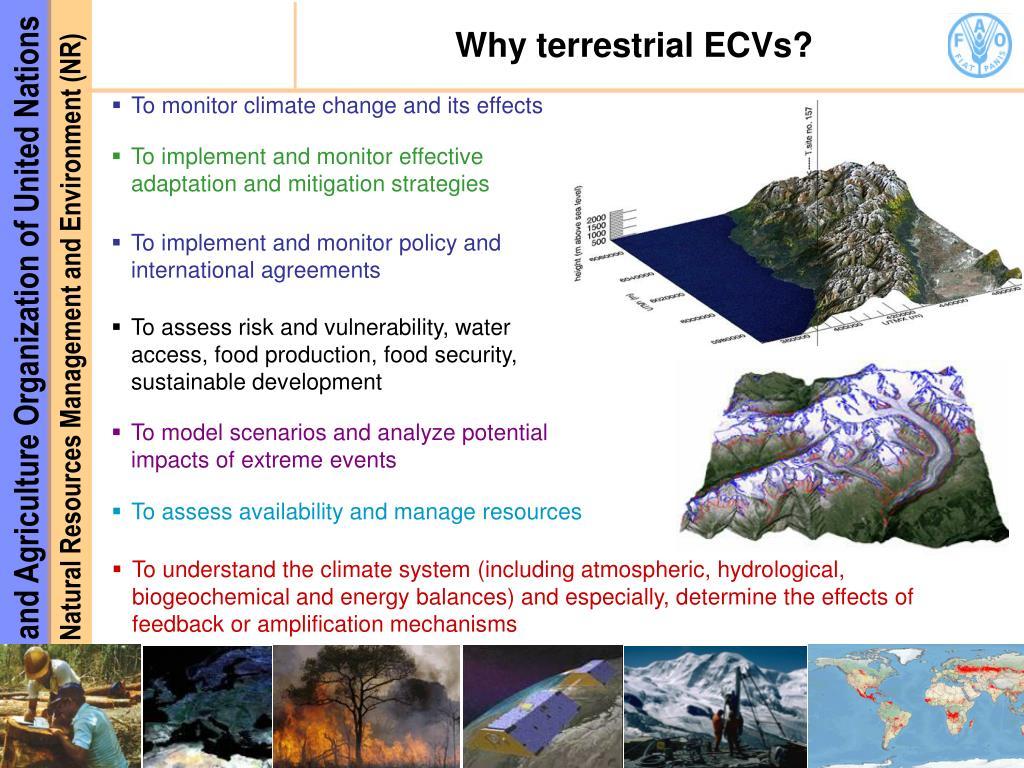 Why terrestrial ECVs?