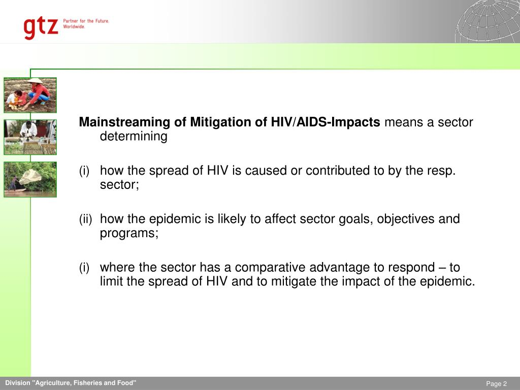 Mainstreaming of Mitigation of HIV/AIDS-Impacts