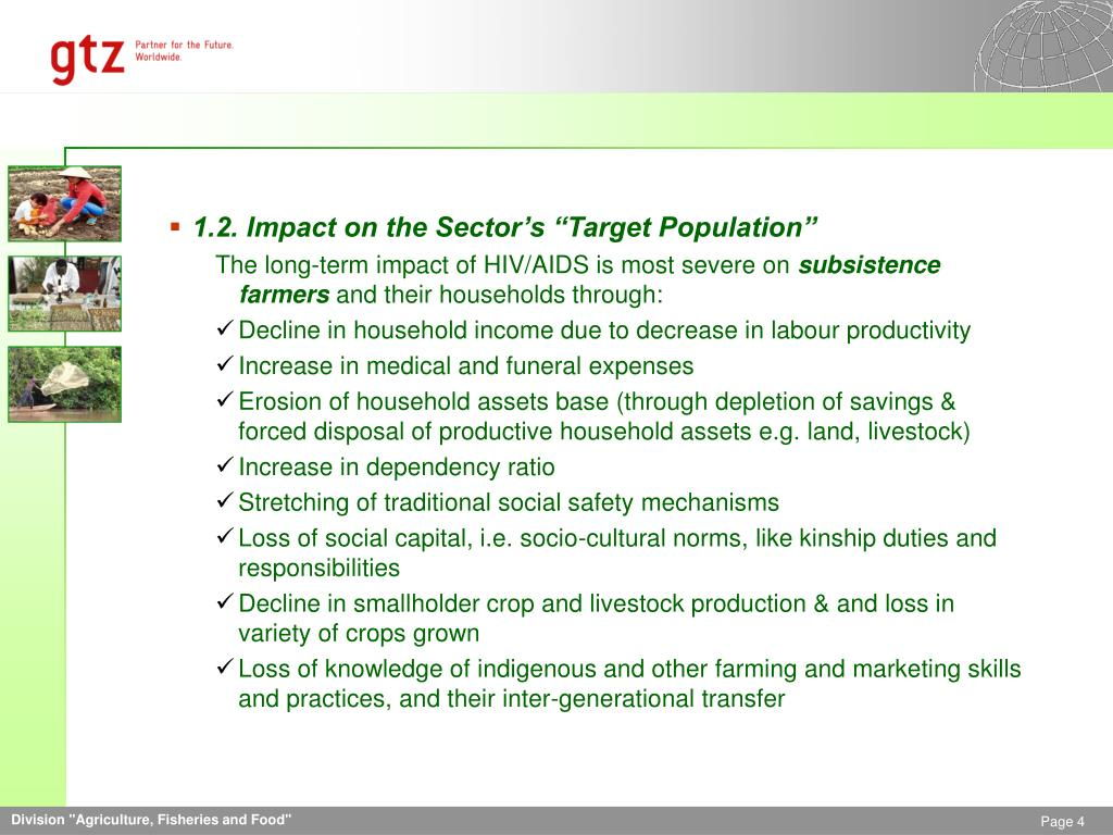 "1.2. Impact on the Sector's ""Target Population"""