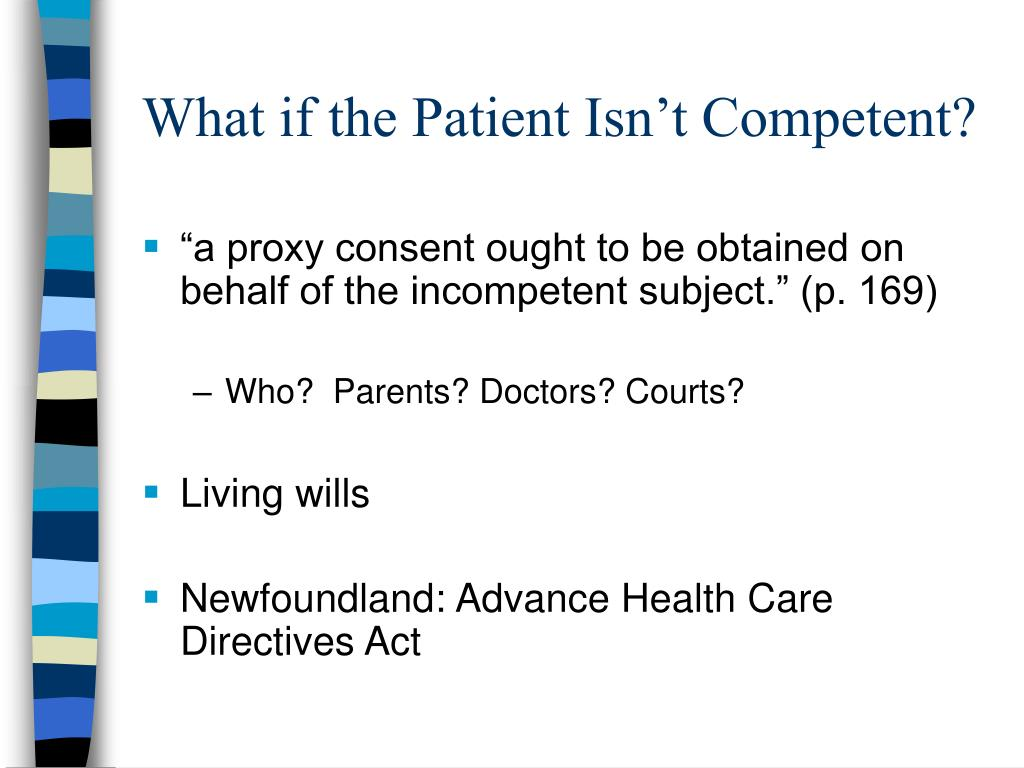 What if the Patient Isn't Competent?