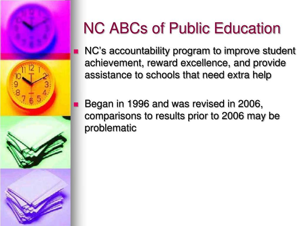 NC ABCs of Public Education