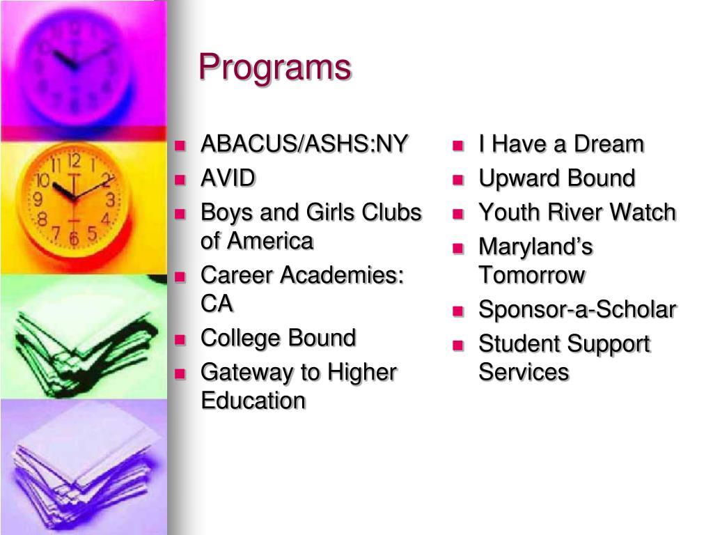 ABACUS/ASHS:NY