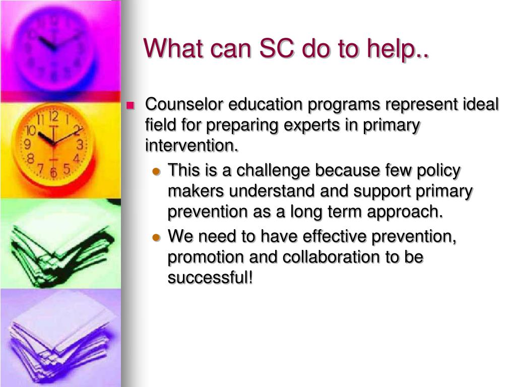 What can SC do to help..