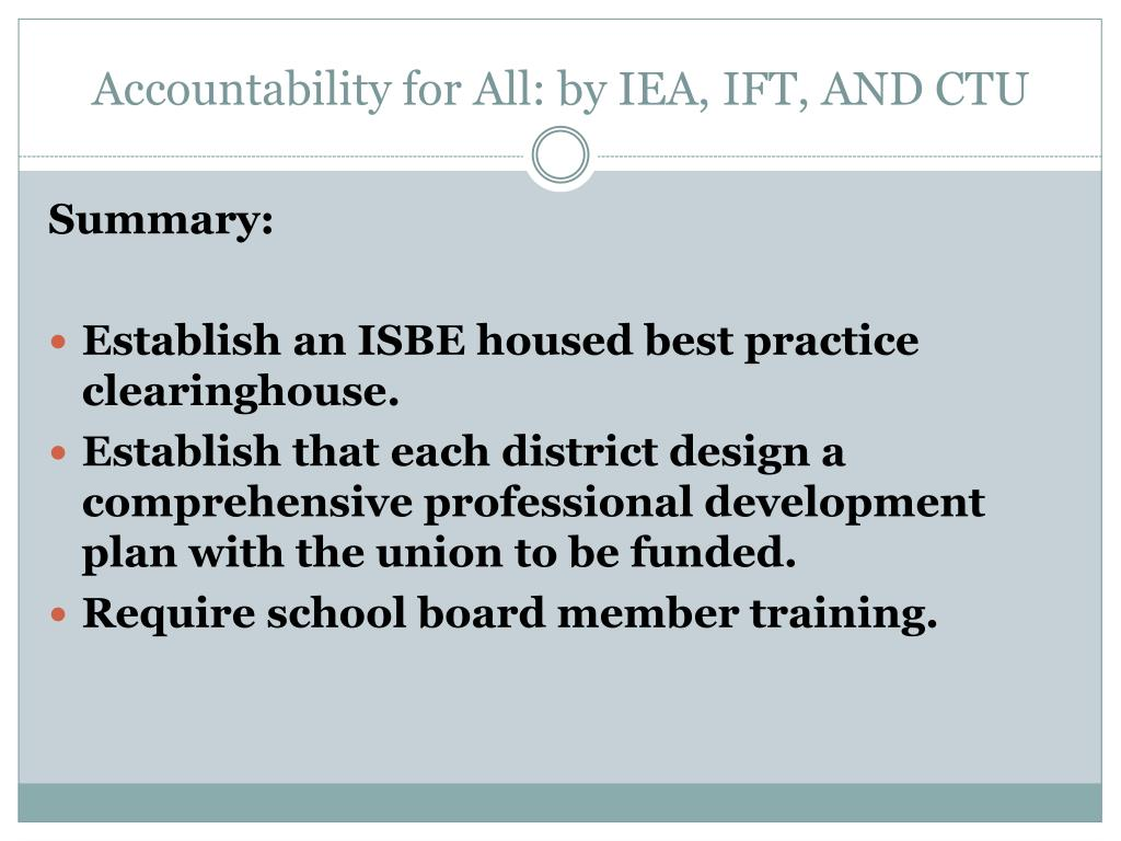 Accountability for All: by IEA, IFT, AND CTU