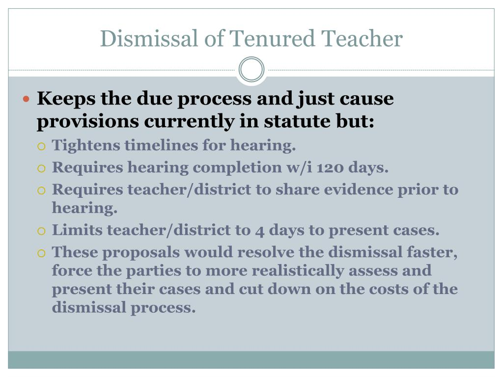 Dismissal of Tenured Teacher