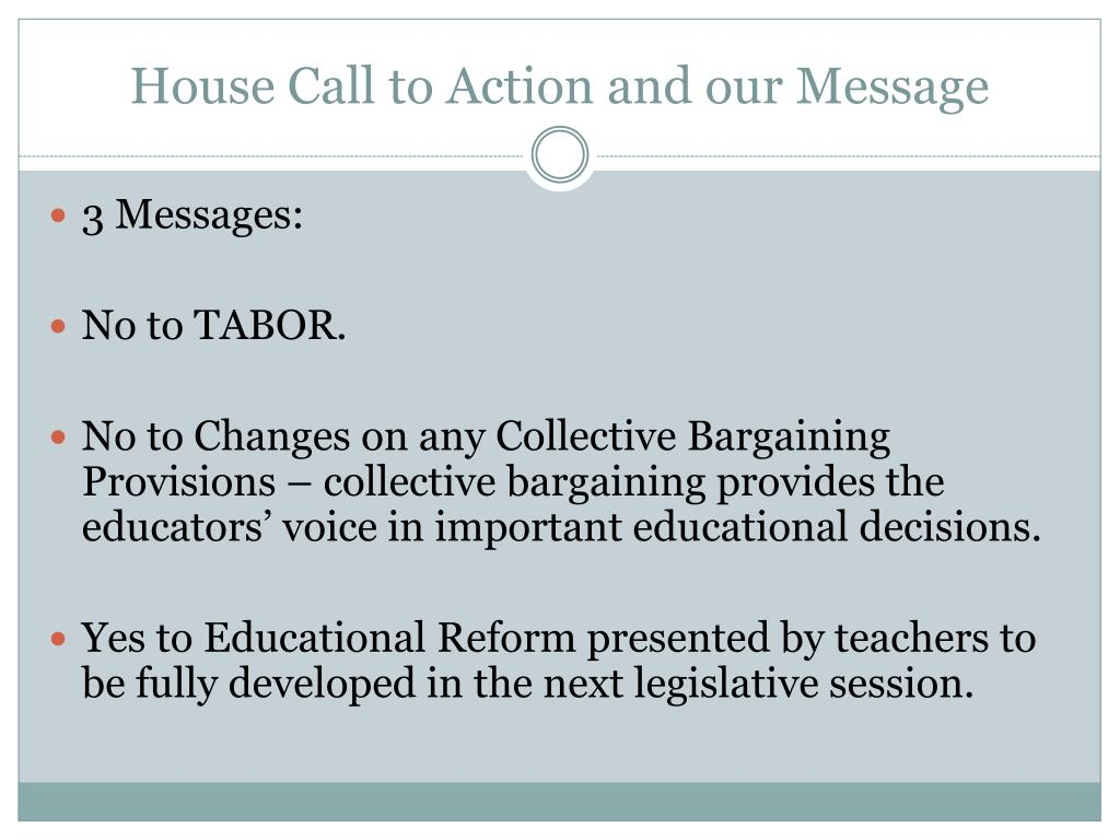 House Call to Action and our Message