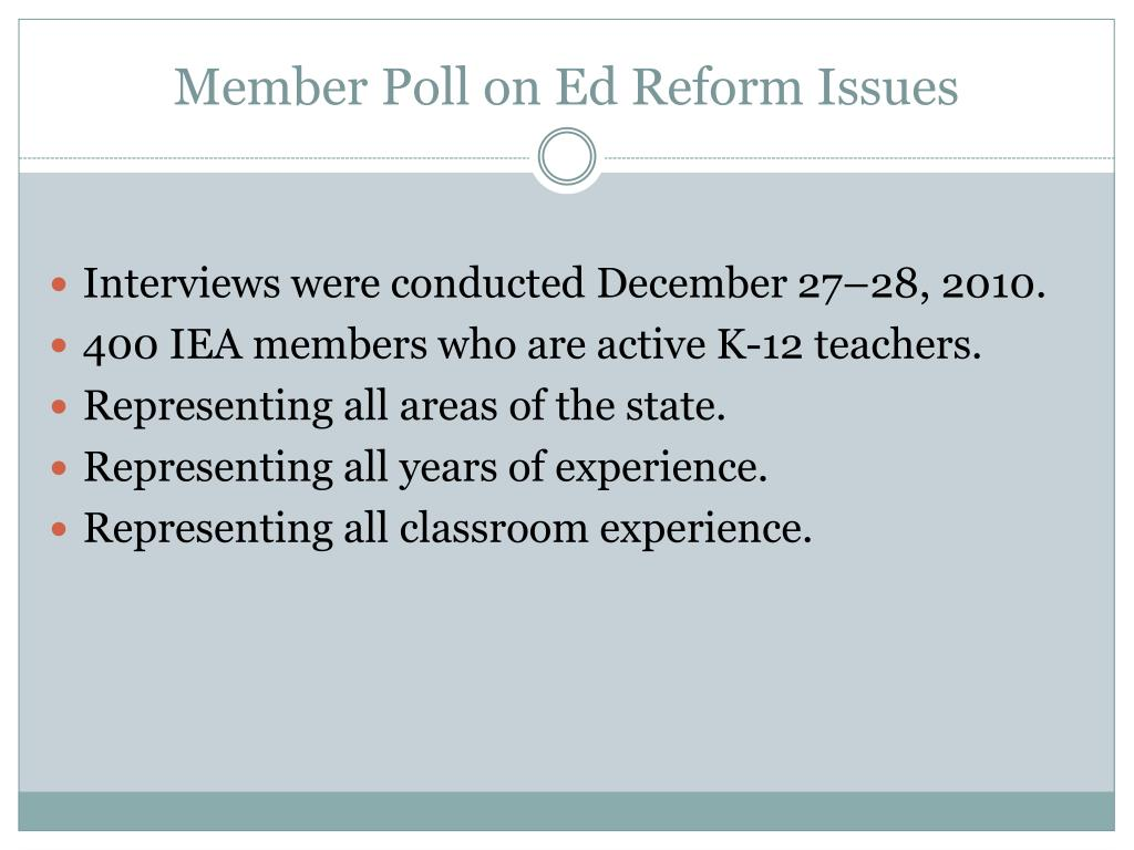 Member Poll on Ed Reform Issues
