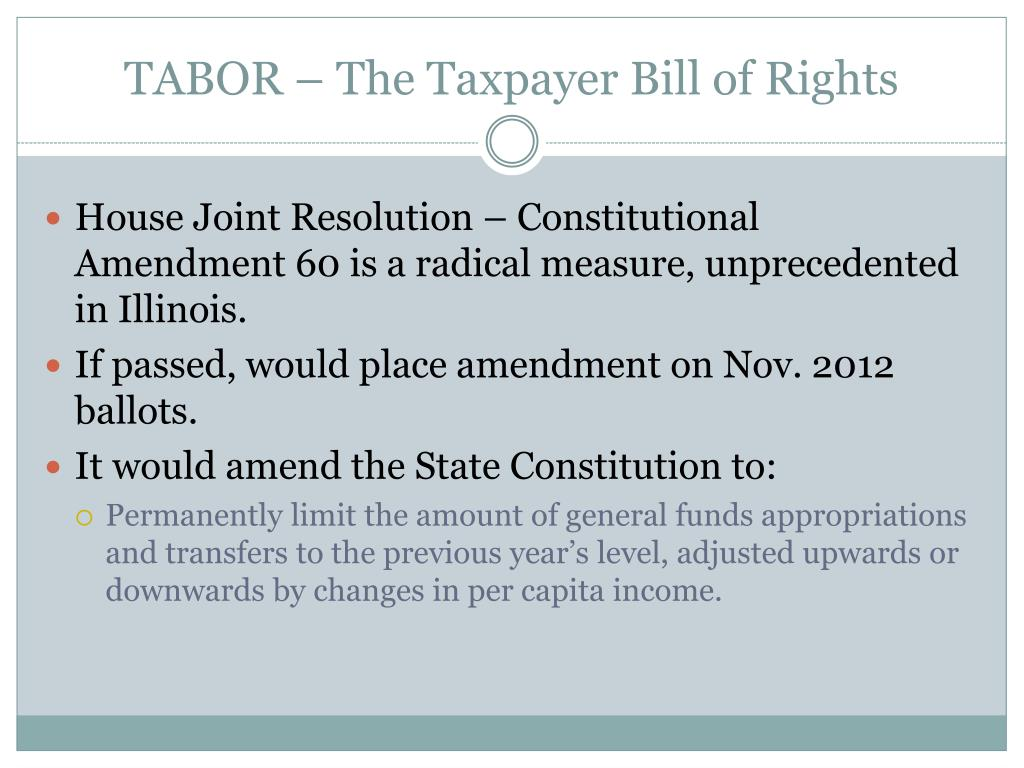 TABOR – The Taxpayer Bill of Rights