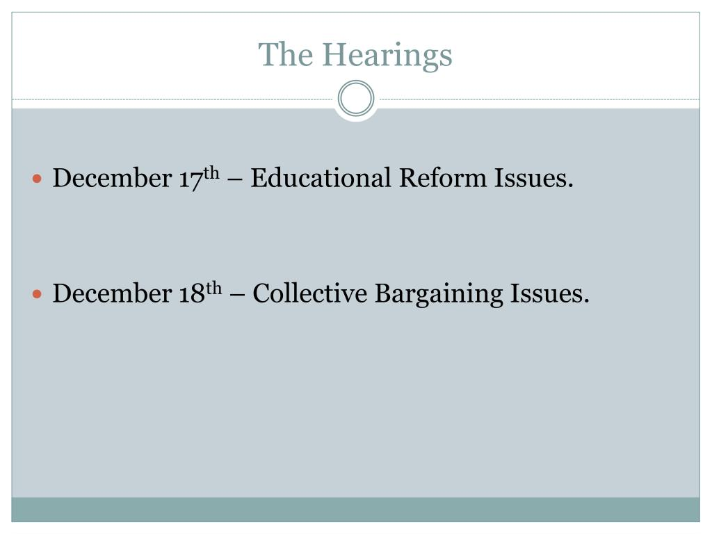 The Hearings