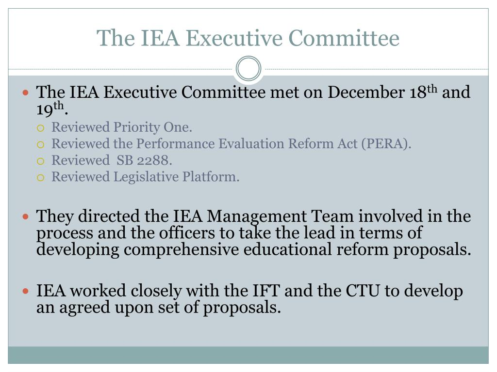 The IEA Executive Committee