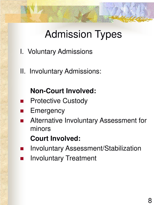 Admission Types