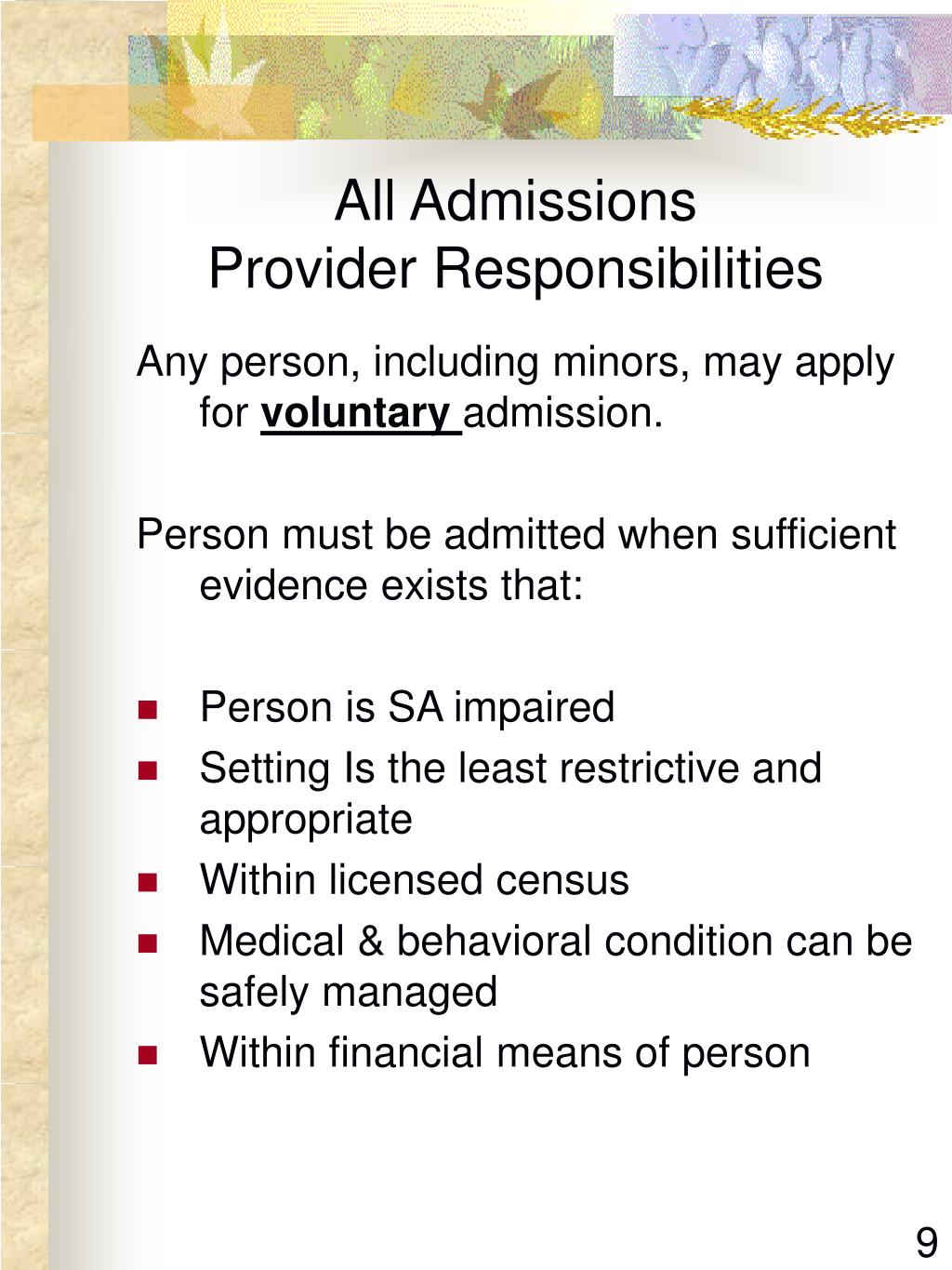 All Admissions