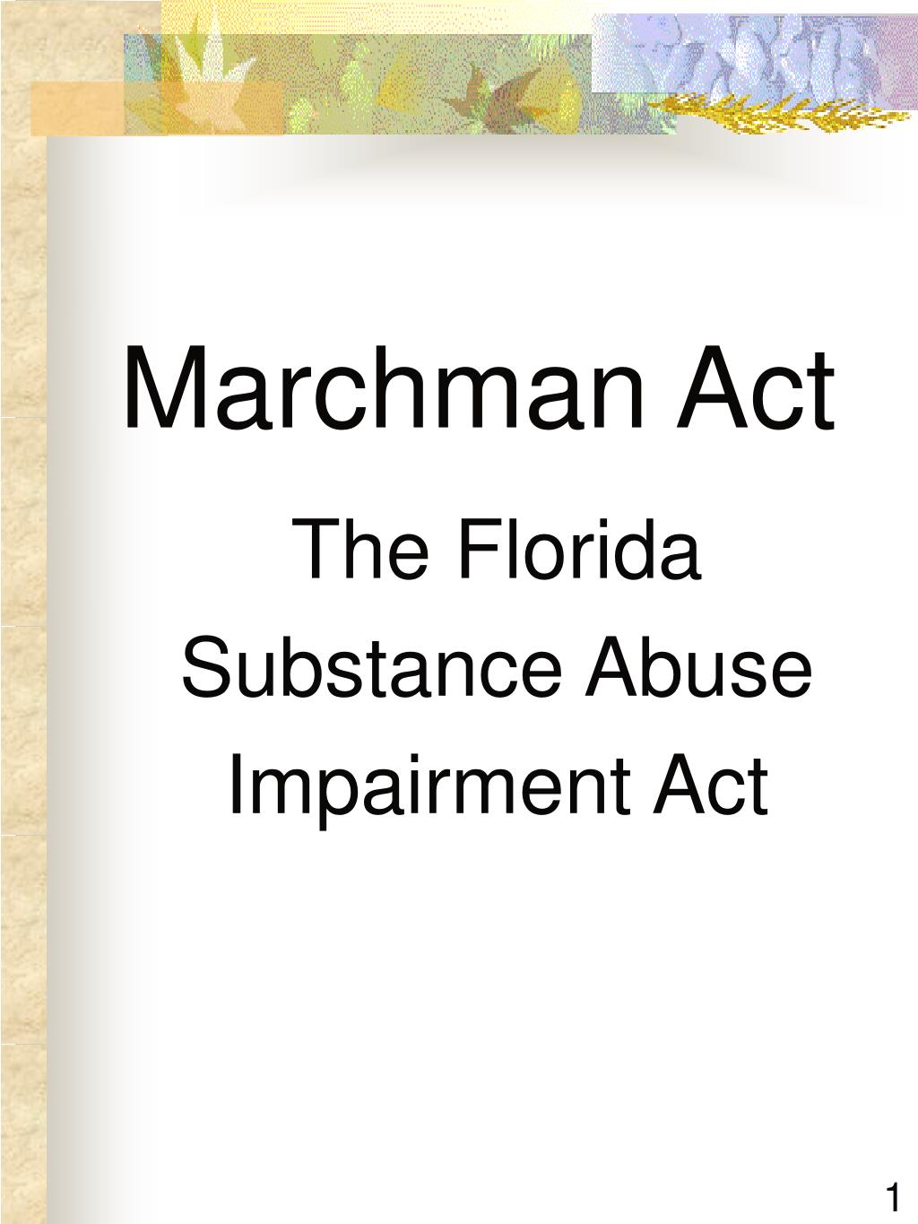 Marchman Act