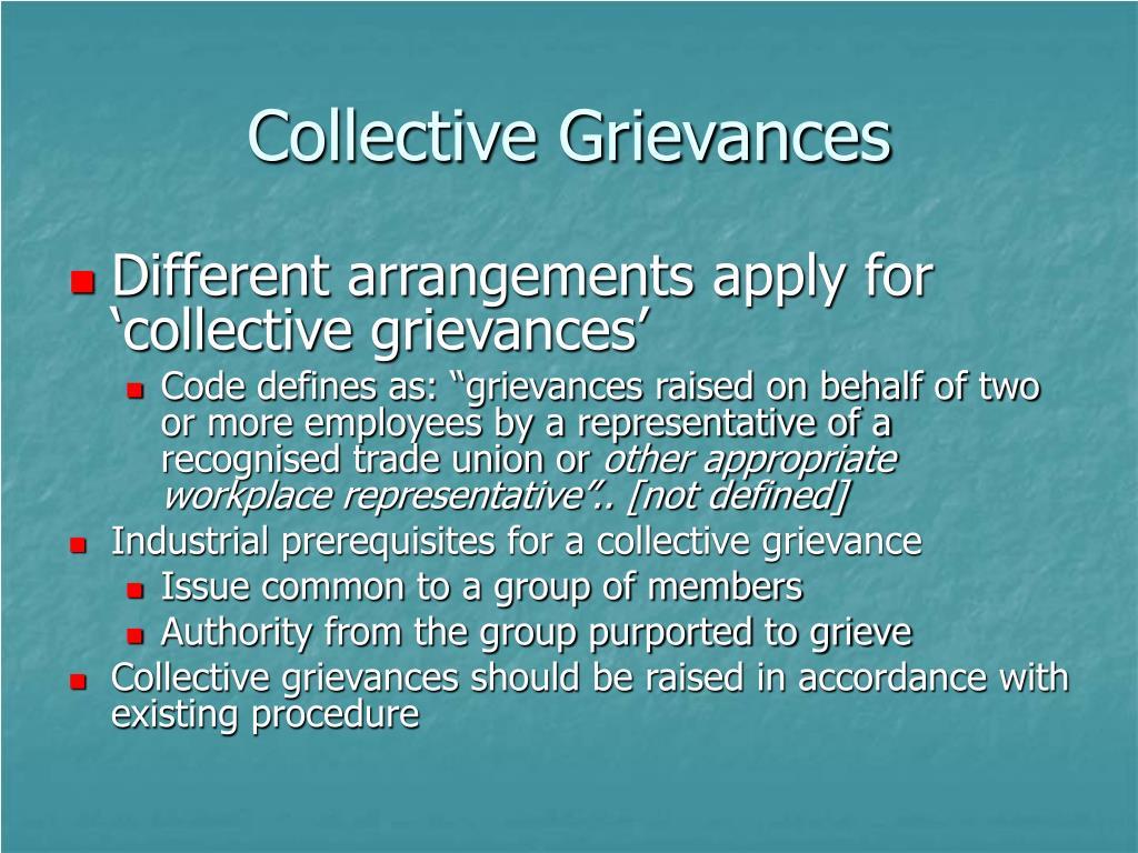 Collective Grievances