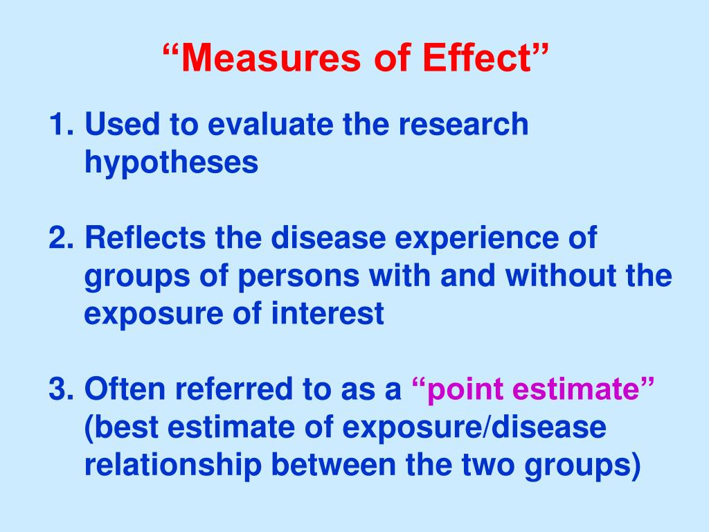 """Measures of Effect"""