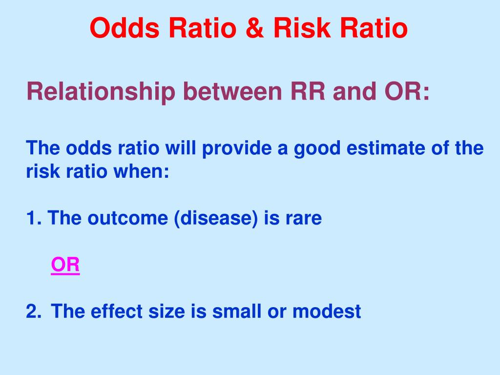 Odds Ratio & Risk Ratio