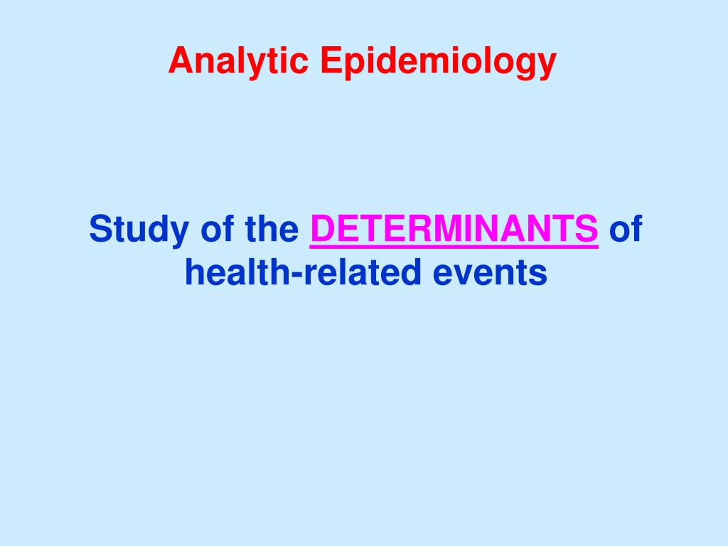 Analytic Epidemiology