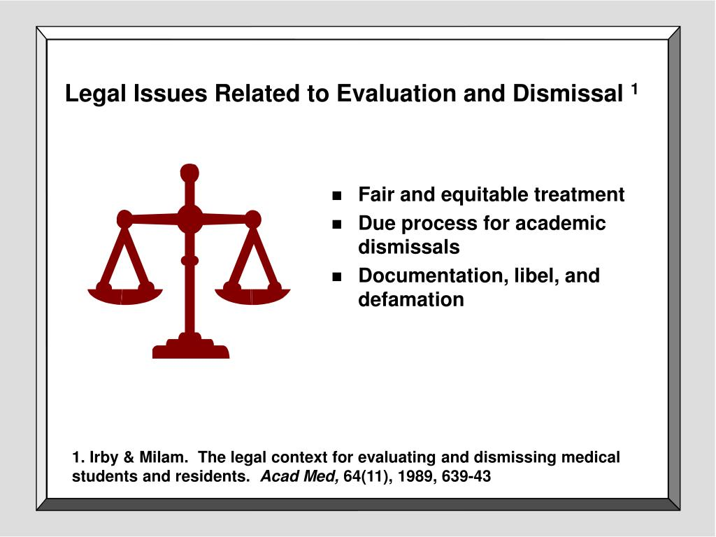 Legal Issues Related to Evaluation and Dismissal