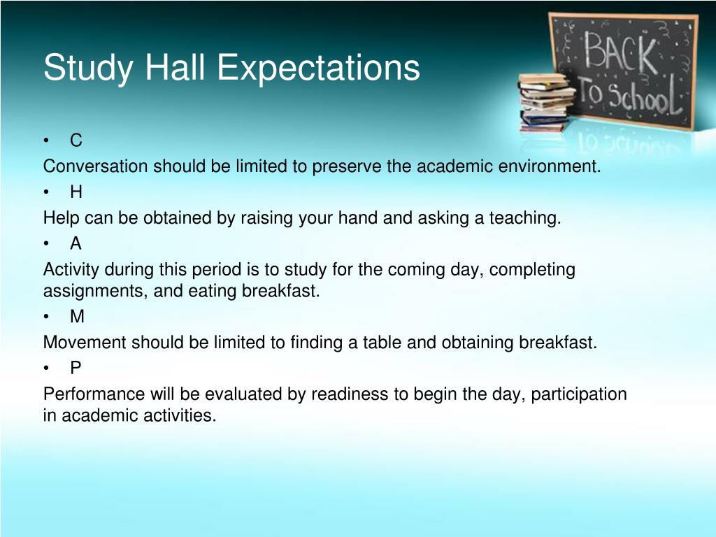 Study Hall Expectations