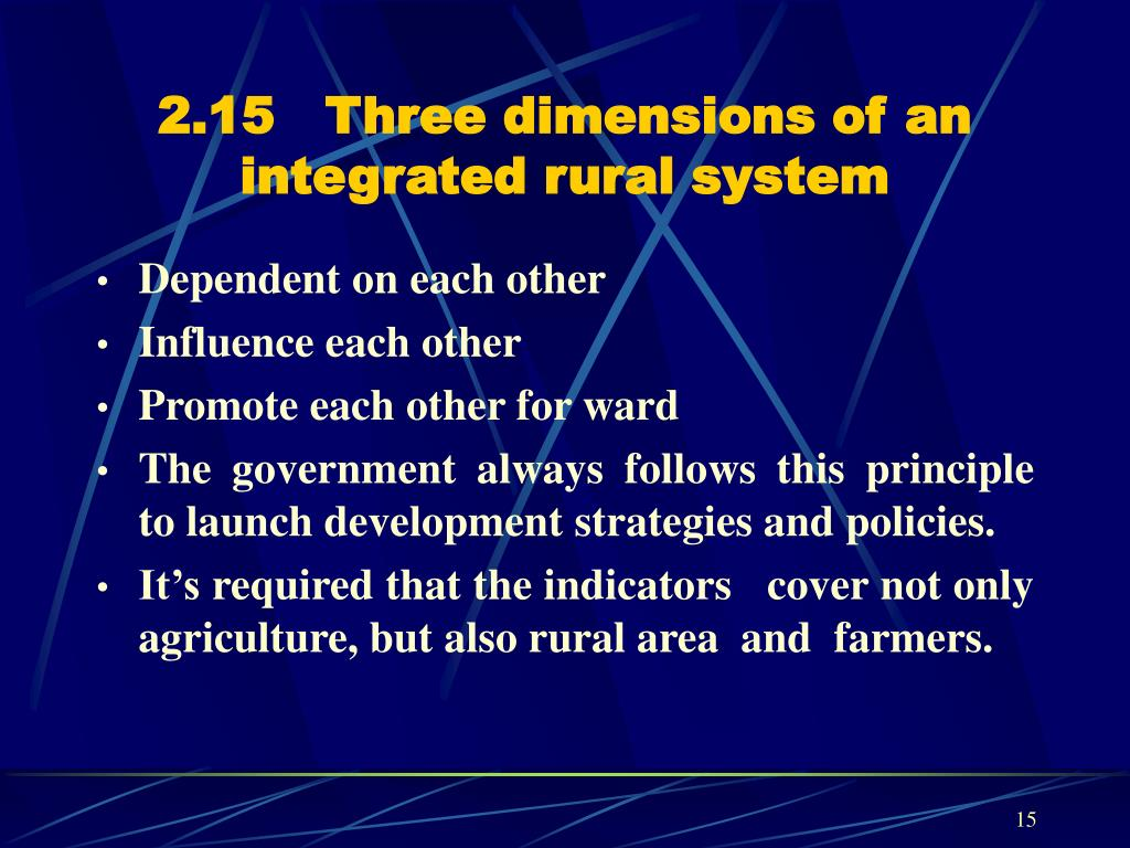 2.15   Three dimensions of an integrated rural system