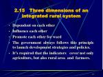 2 15 three dimensions of an integrated rural system