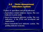 2 2 three dimensional indicators system