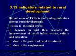 3 12 indicators related to rural development