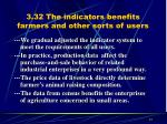 3 32 the indicators benefits farmers and other sorts of users