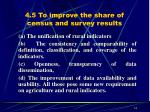 4 5 to improve the share of census and survey results