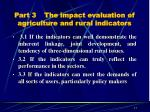 part 3 the impact evaluation of agriculture and rural indicators