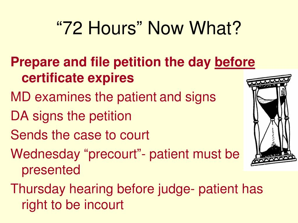"""""""72 Hours"""" Now What?"""